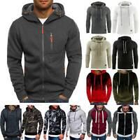 Mens Hooded Hoodies Sweatshirt Sweater Jumper Tops Coat Jacket Plus Size Winter