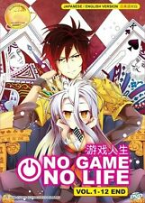 ANIME UK Based NO GAME, NO LIFE Full TV Series DVD (English Dub)