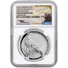 AUSTRALIA 1 Dólar 2016 Wedge Tailed Eagle (S/C) certificada NGC - AUSTRALIE