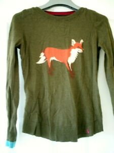 JOULES - SIZE 6 jumper, dark green with fox on the front