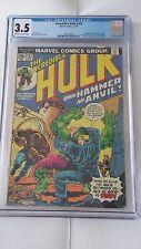 Incredible Hulk #182, 3rd Wolverine, Marvel, CGC 3.5
