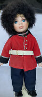 VINTAGE 11 INCH PORCELAIN DOLL BRITISH SOLDIER CLOTHING OUTFIT