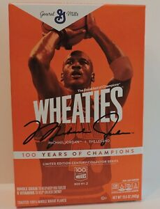 2021 MICHAEL JORDAN 100 YEARS OF CHAMPIONS LIMITED EDITION WHEATIES CEREAL BOX