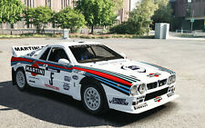 1/10 1985 Lancia Rally 037 Martini Racing RC Body wings decal for TT01 Chassis
