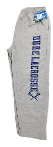 Champion Duke University Blue Devils Lacrosse Open Hem Fleece Sweatpants XL