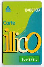 AFRIQUE TELECARTE / PHONECARD .. COTE D'IVOIRE 10.000FCFA ILLICO IVORIS PLASTIC