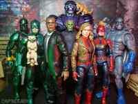 Hasbro Marvel Legends MCU Captain Marvel Wave - BAF Kree Sentry Set of 7- NEW