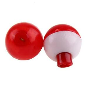 """Package of 3 Eagle Claw Red & White Snap On Fishing Tackle 1"""" Bobbers Floats"""