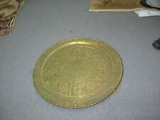"""HUGE ANTIQUE ISLAMIC MOSQUE DOME DESIGN COPPER TRAY HAND ETCHED 29"""""""