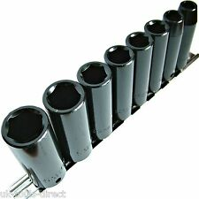 8 piezas Cubos de impacto 1cm vaso profundo CR-V 8-19mm 6 puntos