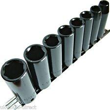 "8pc Impact Sockets 3/8"" Deep Drive Cr-v 8-19mm 6-Point"