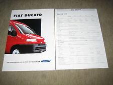 Fiat Ducato Prospekt Brochure prospetto von 2/1994, 8 Seiten