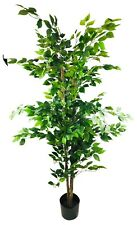 Artificial Ficus Tree Realistic Leaves Plant Indoor Outdoor Potted 200cm Tall