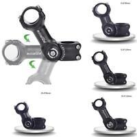 Aluminum MTB Road Bike Bicycle Adjustable Angle Stem Riser 25.4mm 31.8mm Black