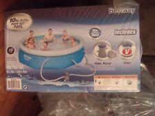 Bestway Fast Set Pool 10 Feet X 30 Inch W/ Filter Pump NEW