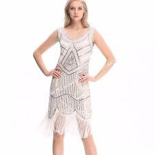 1920s Vintage Flapper Dress Great Gatsby Charleston Party Sequin Tassel Dress