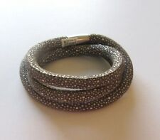 Brighton Woodstock Python Snake Triple Bracelet or necklace-beige brown magnetic