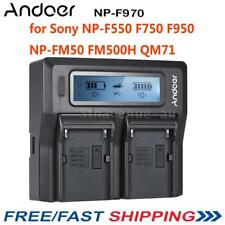 Andoer 2*NP-F970 Battery Plate Dual/Four Channel for Sony NP-F550 F750 F950 AU