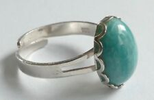 Ring marmorierter Edelstein  Silber 835 rhodiniert Vintage 90er silver ring