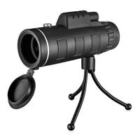 40X60 BAK4 Monocular Telescope Outdoor Hunting Scope with Phone Clip Tripod