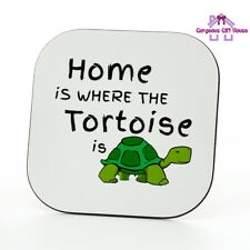 Home Is Where The Tortoise Is Coaster, Tortoise gifts, Tortoise fan present