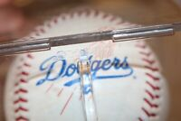 JEFF KENT #12 Los Angeles Dodgers Autograph Baseball Macy's Logo Signature