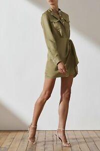 Shona Joy - Ellington Linen Shirt Mini Dress