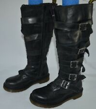 Dr. Doc Martens Phina The Walking Dead Knee-High Boots Buckles Women US Size 6 L