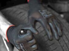 12 Pairs Polyco Matrix P Grip Black PU Palm Coated Work Gloves Builders Size 9 L