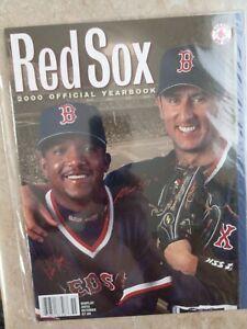 Boston Red Sox 2000 Official Yearbook, Pedro Martinez & Nomar Garciapara