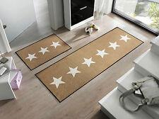 wash+dry Teppich waschbar Bodenmatte Fußmatte Stars sand 75 x 120 cm