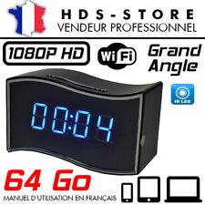RÉVEIL CAMÉRA ESPION IP WIFI RVLIP6 FULL HD 1080P + MICRO SD 64 GO INFRAROUGE