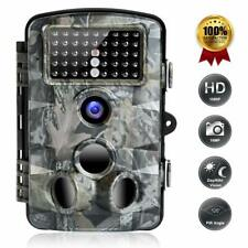 Trail Game Camera, 16MP 1080P Trail Cameras with Night Vision Motion Activated W