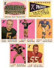 1959 Topps GREEN BAY PACKERS team set--J.Kramer RC, B.Starr, P.Hornung!!