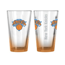 More details for new york knicks glass adult's 16oz logo drinks glass - orange - new