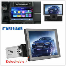 9'' Car Multimedia Radio Stereo MP5 Player FM BT AUX USB Touch Screen Detachable