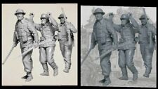 1/35 British Soldiers & German Prisoner (3 figures) Resin figure Model kits