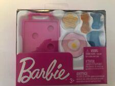 BARBIE Breakfast Tray & Accessory Package: Tray, Egg, Waffle, Honey Bear & More!