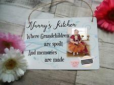 Nanny's Kitchen Aluminium Hanging Sign