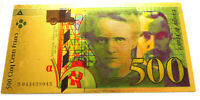 "★ LOT DE 50 BILLETS POLYMER  "" OR "" COULEURS 500 FRANCS PIERRE MARIE CURIE ★ R2"