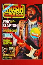 Eric Clapton On Cover Tubes David Bowie 1979 Rare German Magazine