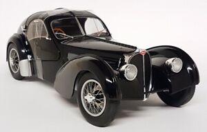 Solido 1/18 Scala - Bugatti Tipo 57 Sc Atlantico Nero Modellino Auto