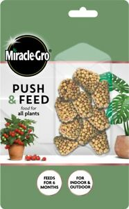Miracle-Gro Push & Feed 6 Month Food for All Indoor & Outdoor Plants - 10 Pack