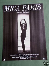 MICA PARIS - MAGAZINE CLIPPING / CUTTING- 1 PAGE ADVERT