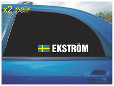 MATTIAS EKSTROM REAR QUARTER WINDOW STICKERS SWEDISH FLAG RALLY CROSS CAR X2