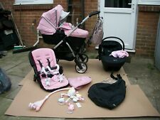 Silver cross wayfarer vintage pink travel system , 94 items baby clothes +extras