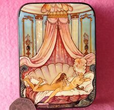 SMALL LACQUER SHELL GIFT Box Barbier illustration Les Liaisons dangereuses NUDES