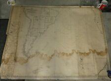 South America West Coast Nautical Map 1844 J A Walker original  pacific Africa