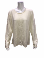 Legacy Cuddle Me Women's Long Sleeves Pullover T-Shirt Top White X-Large Size