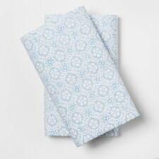 Simply Shabby Chic Blue White Tonal Print 2 STANDARD Pillowcases